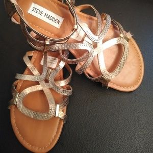 Steve Madden Big Girl Gladiator Sandal